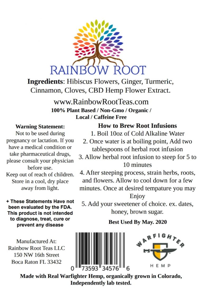 Rainbow Root Hemp Tea
