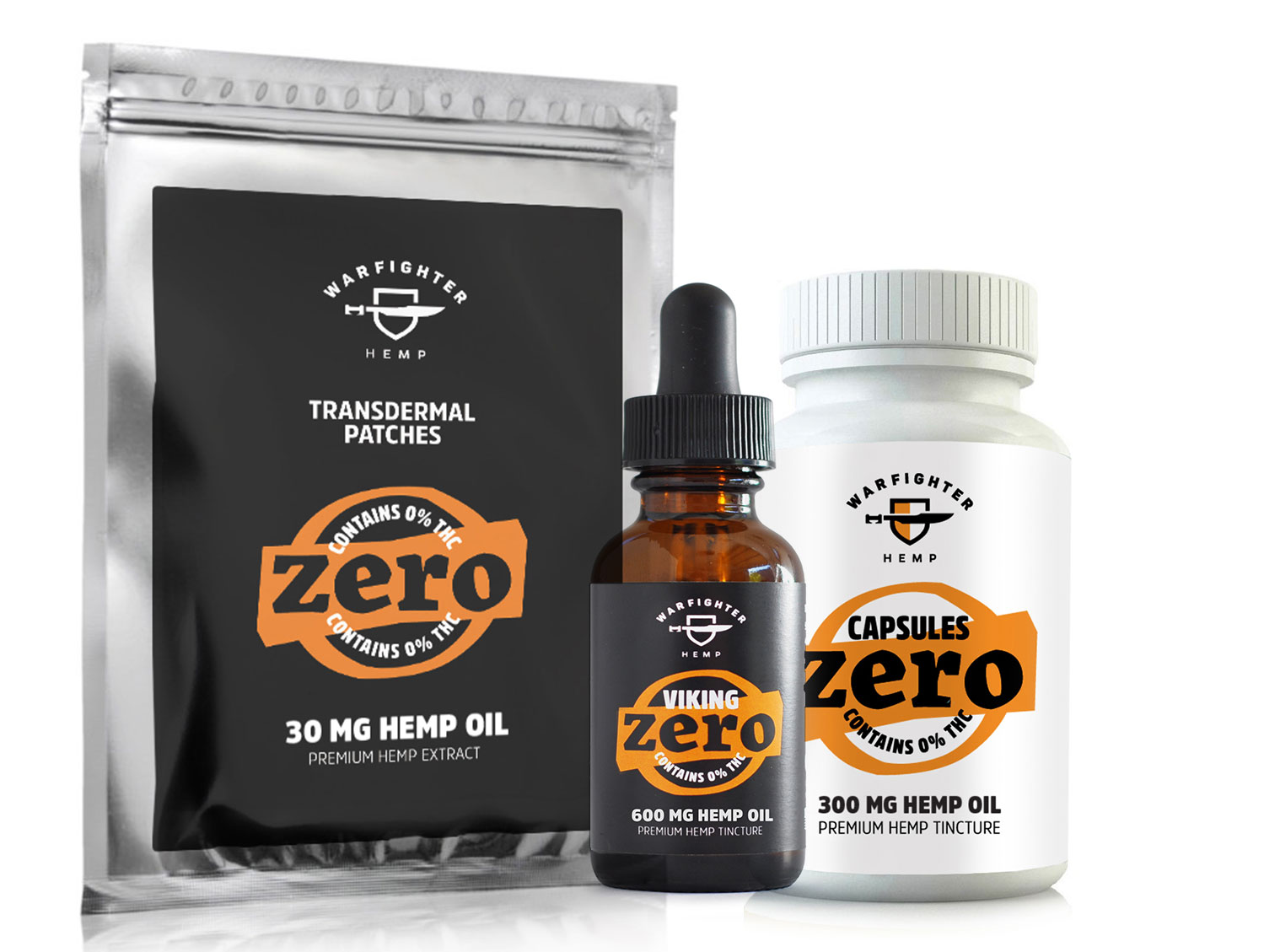 Zero THC hemp products